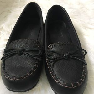 Timberland Black Leather Loafers Shoes sz 9